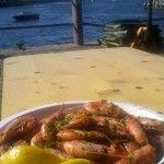 Gambas auf dem Fischmarkt in Bergen - die Inspiration für dieses Gericht.