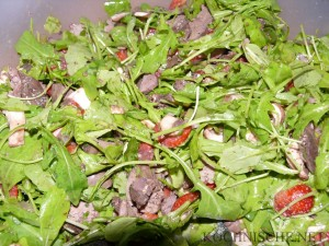 Hühnerleber-Salat