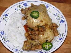 Murgh Chole mit Reis