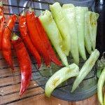 Gewürzpaprika & Chilli - nach der halben Garzeit wenden