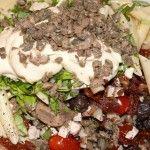 mediterraner Nudelsalat in der Mache ...