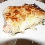 Lecker Lachs-Spinat-Lasagne!