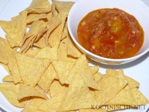 Mango Salsa mit Nachos
