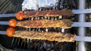 Adana Kebab auf dem Grill