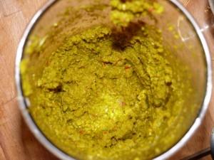 Grüne Curry Paste, zerkleinert