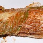 Mein Kimchi nach 2 Wochen im Steingut-Topf im Kühlschrank.