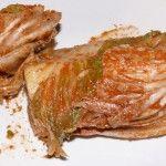 Kimchi angeschnitten...
