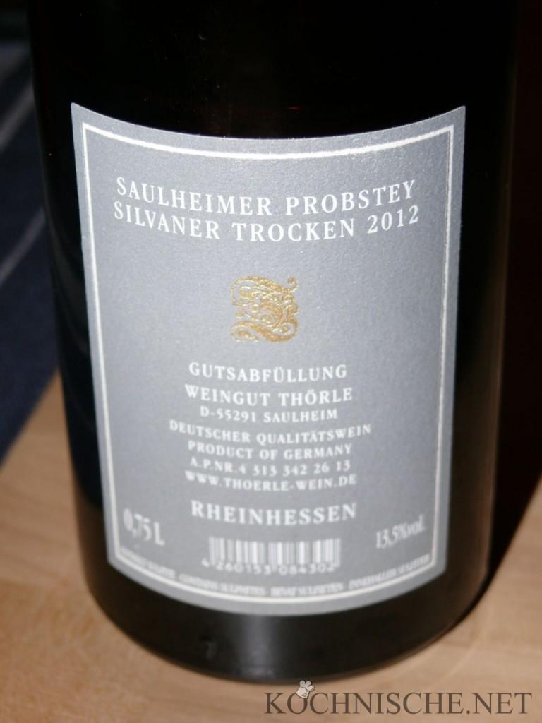 Probstey Silvaner 2012 Thörle