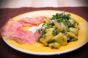 Warmer Kartoffelsalat mit Graved Lachs